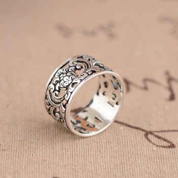 Romantic Flower 925 Silver Men Women Rings2