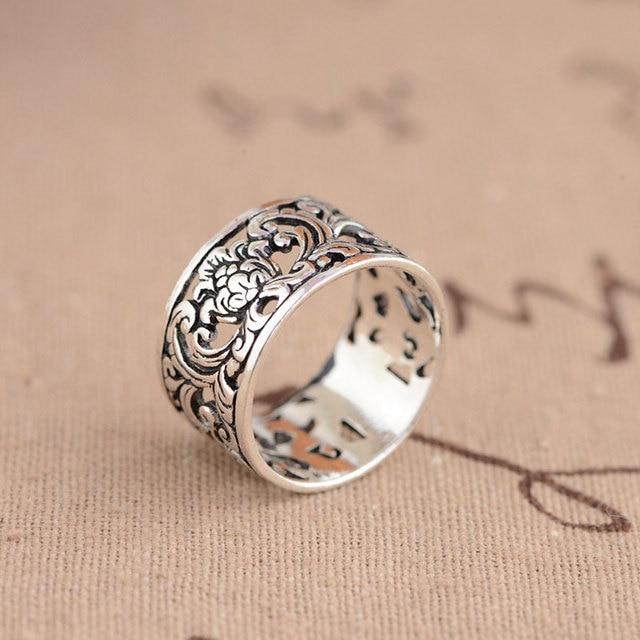 Romantic Flower 925 Silver Men Women Rings2