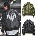 Высокое Качество марки Одежды Перо куртки мужчины хип-хоп MA1 Воздуха полет куртка kanye west yeezy YEEZUS негабаритных V вл JNNU куртки