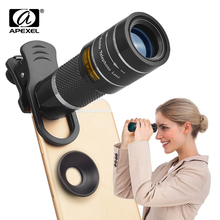 APEXEL 20X telescope monocular with universal clip for iPhone X 7 8 an