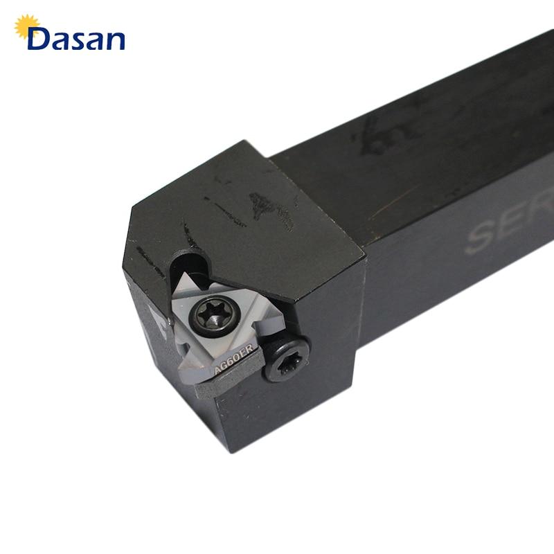 Купить с кэшбэком 1pcs SER1010H11 SER1212H11 SER1212H16 SER2020K16 CNC Lathe Machine Cutter External Thread Turning Holder