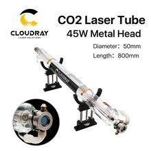 Cloudray Co2 лазерной трубки металлическая голова 800 мм 50 Вт Стекло трубы для CO2 лазерная гравировка Резка машины