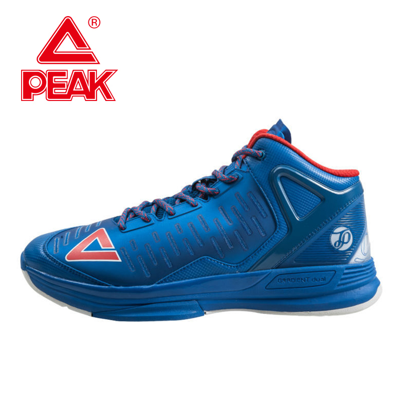 PEAK SPORT Tony Parker TP9 II Men Basketball Shoes Gradient Dual FOOTHOLD Tech Athletic Ankle Boots Breathable Sneaker EUR 40-50 peak sport authent men basketball shoes wear resistant non slip athletic sneakers medium cut breathable outdoor ankle boots