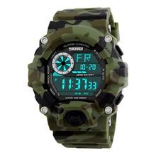 SKMEI Armée Camouflage led militaire montres hommes relojes numérique sport montres relogio masculino esportivo s choc horloge