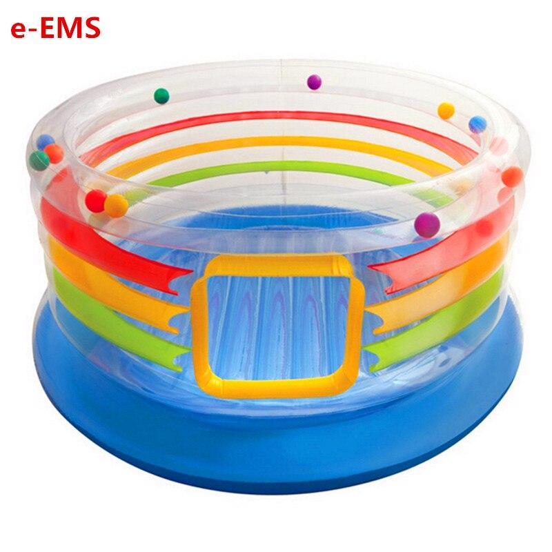 Детский надувной замок Цвет прозрачный весело прыгать батут в помещении дети моря Ball бассейн игровая комната G2019