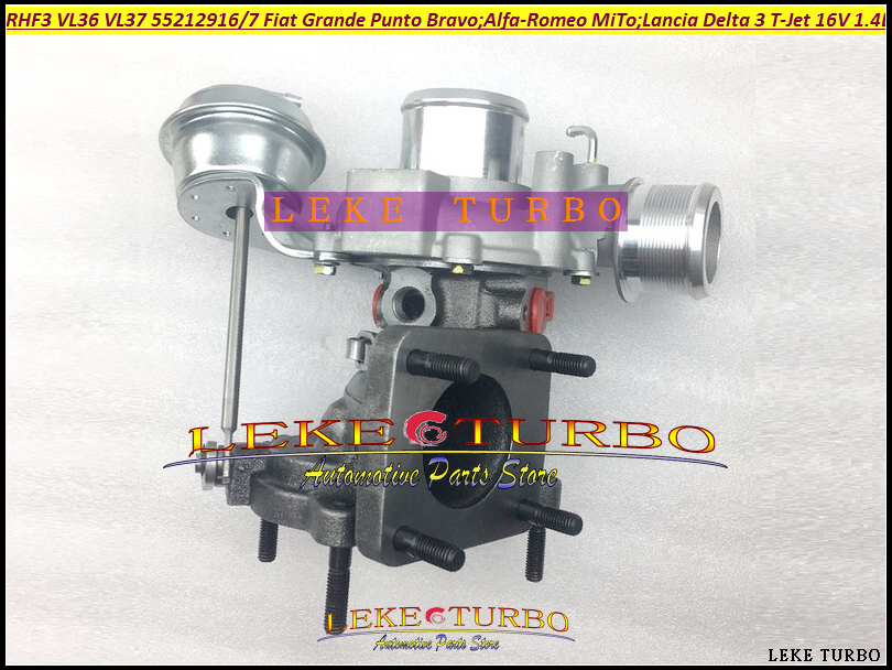 RHF3 VL36 VL37 Turbo For Alfa-Romeo MiTo For FIAT Grande Punto Bravo For Lancia Delta III 2007- T-Jet 16V 1.4L 55212916 55212917 evans tt12ec2s 12 ec2 clear sst