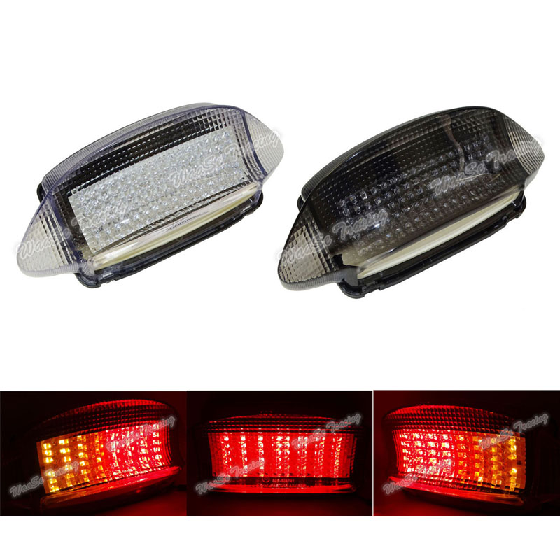 Waase EMARK Motorcycle Rear Taillight Tail Brake Turn Signals Integrated Led Light Lamp For Honda Xlv1000 Varadero 1998-2004