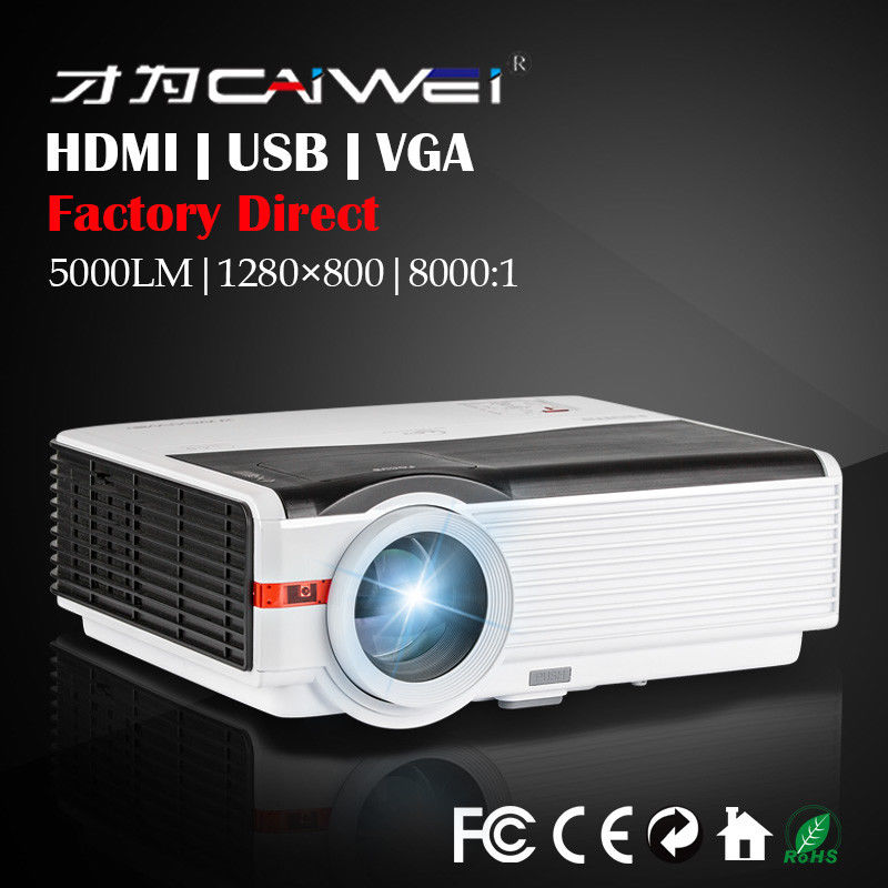 LED LCD 5000 Lumens Video Game Movie LCD + LED Home Theater Projector 1080P Multimedia backyard Party Projector Beamer new h88 lcd led video micro multimedia projector home theater
