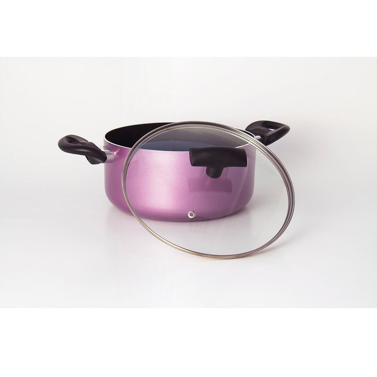 Набор посуды Galaxy GL 9504(3 кастрюли- 3 л, 4 л и 5 л с крышками, внешнее антипригарное покрытие, внутреннее японское керамическое покрытие Silkware
