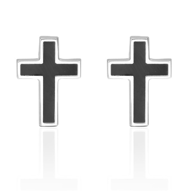Memolissa Brass Stamping Gemelos Para Camisas Mens Button Enamel Iron Cross Cufflinks