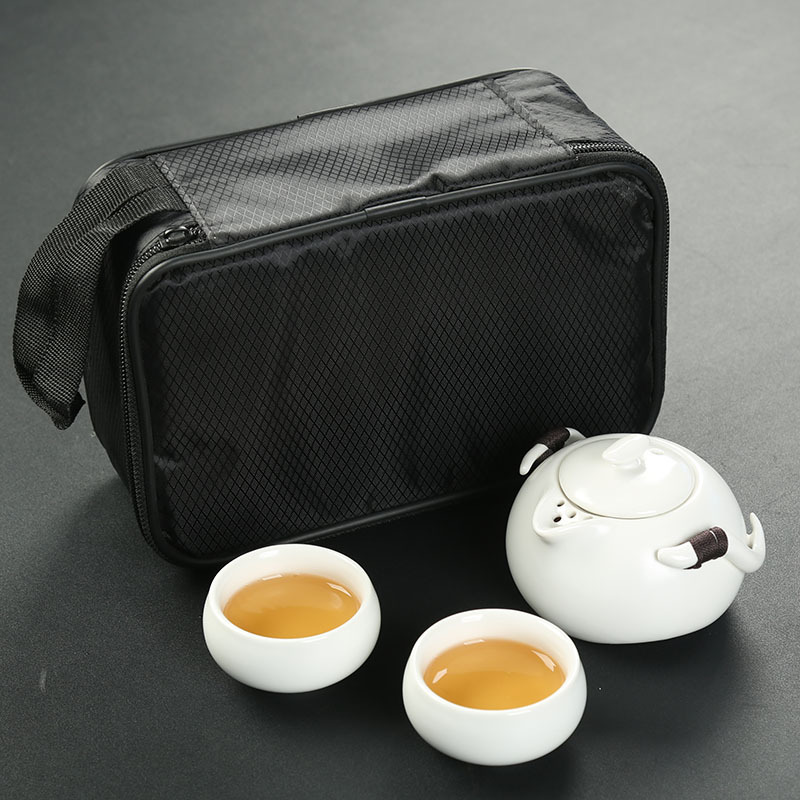 1 Teapot 2 Teacups 1bag Tea set,Beautiful and easy teapot kettle,Chinese Travel Ceramic Portable Teaset,Coffee Cup gaiwan