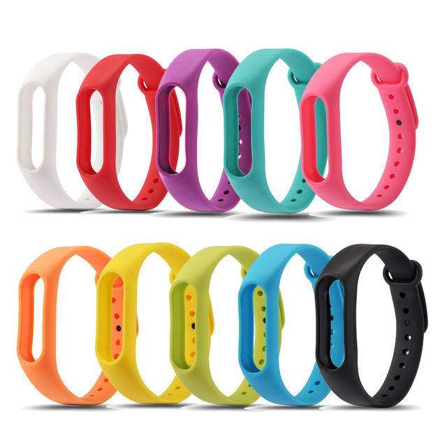 Colorful Silicone Wrist Strap Bracelet Double Color Replacement watchband for Original Miband 2 Xiaomi Mi band 2 Wristbands original xiaomi steel net watch band for miband