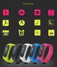 B1 Плюс OLED Сенсорный Дисплей DA14580 + AIROHA Bluetooth Гарнитуры Smart Браслет Heart Rate Monitor Для Android 4.4 + iOS 8 + Телефоны