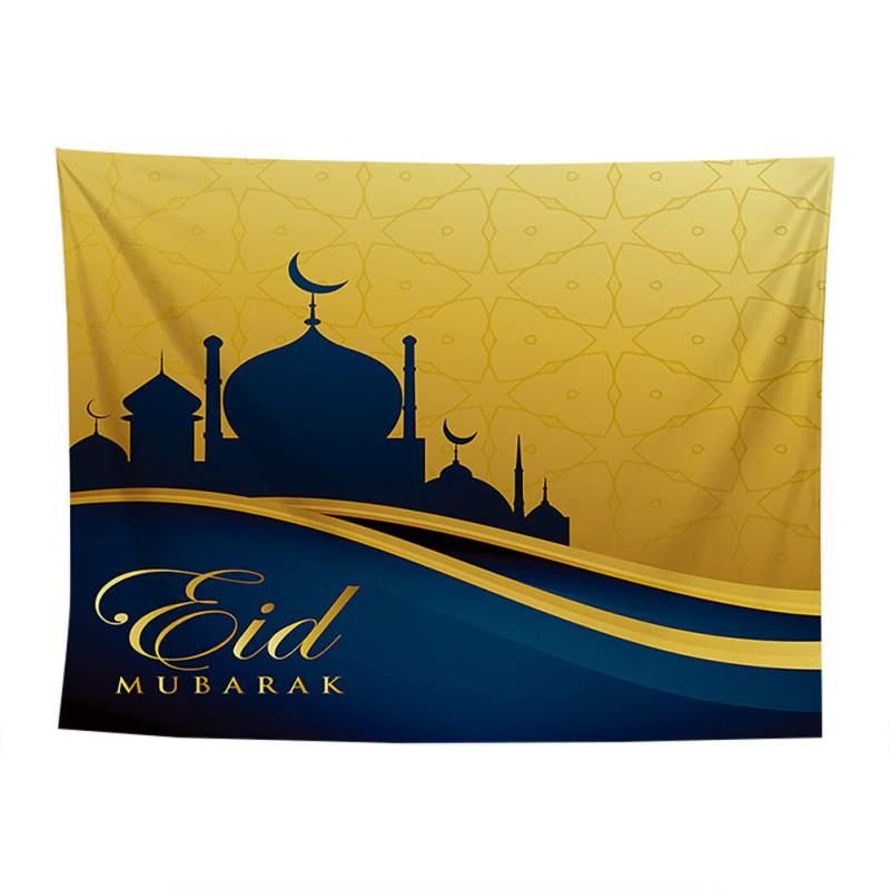 Arabische Islamitische Eid Al-fitr Stijl Tapijt Gang Decoratieve Dekzeil Gedrukt Achtergrond Doek Muur Decor