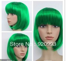 free P P  Hot Sell beautiful Women s short Greens Wig