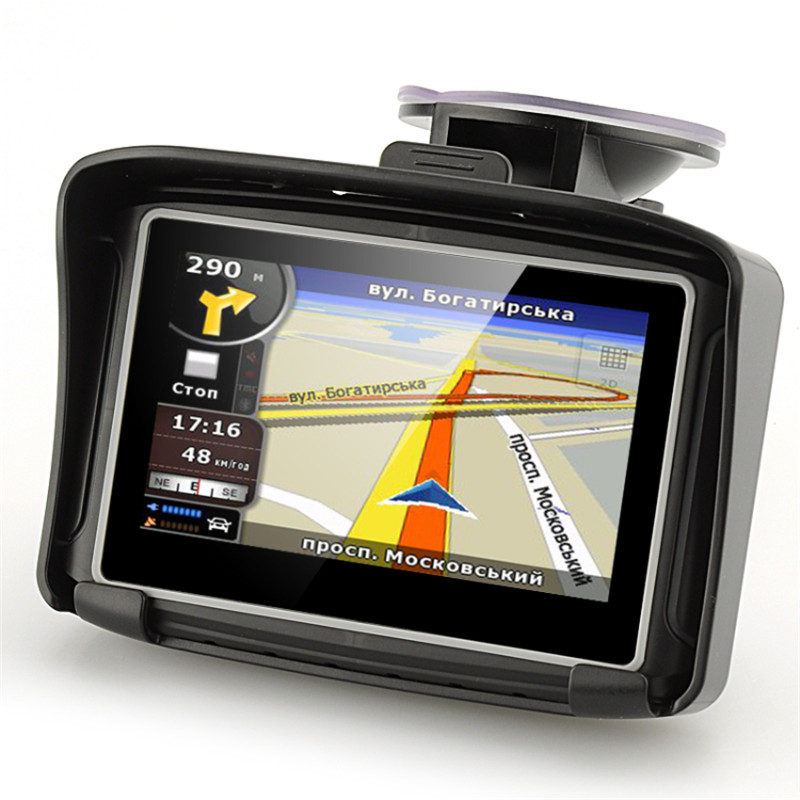New Version 4 3 Waterproof IPX7 Motorcycle Bluetooth GPS Navigation MOTO Navigator with Free Maps 8G