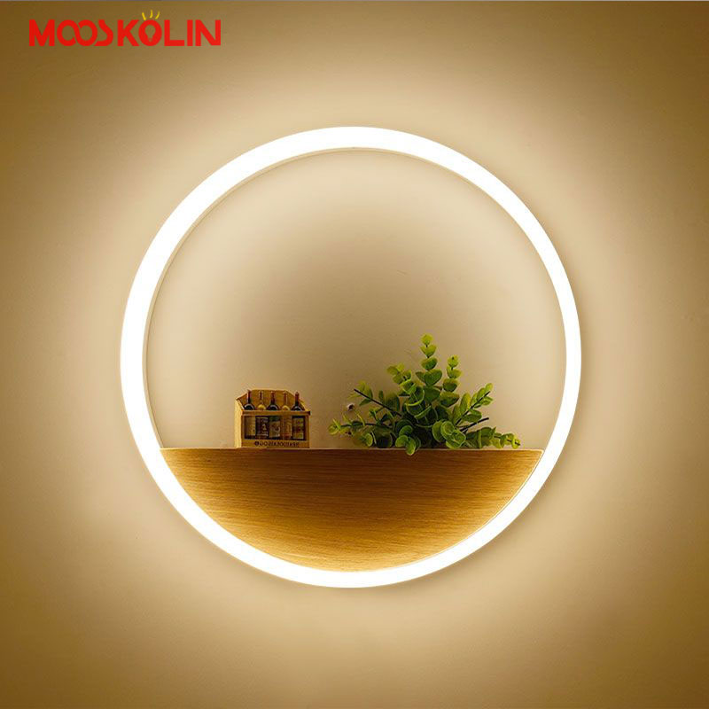 Simple Modern Creative Acrylic LED Wall Light Fixtures Indoor Lighting Fashion Bedroom Wall Sconces Bedside wall Lamps Lampara