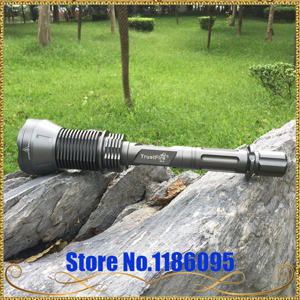 trustfire x6 sst 90 купить - free shipping TrustFire X6 SST-90 Cree XM-U2 5-Mode 2300-Lumen Memory LED Flashlight