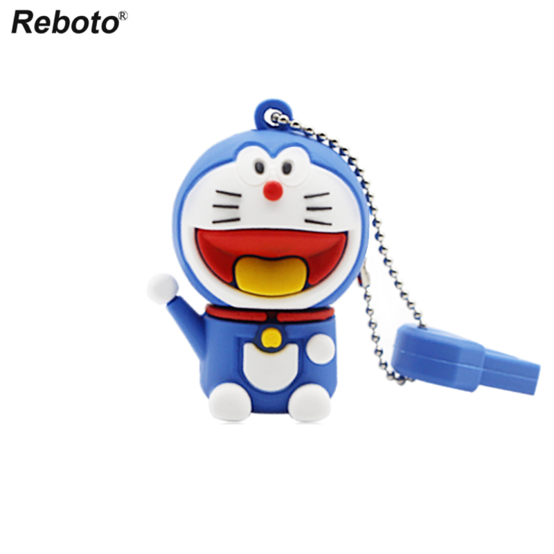 Image 2 - Cartoon USB 2.0 Doraemon USB Flash Drive 64GB Cat Memory Stick 32GB Pen Drive 16GB Pendrive 8GB USB Disk 4GB Thumb Drive-in USB Flash Drives from Computer & Office