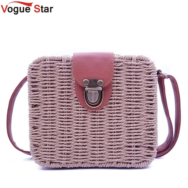 e6e66f5199a9 women s handbags mini women messenger bags leather Square Straw ladies  Crossbody Bag shoulder bags summer bolsa