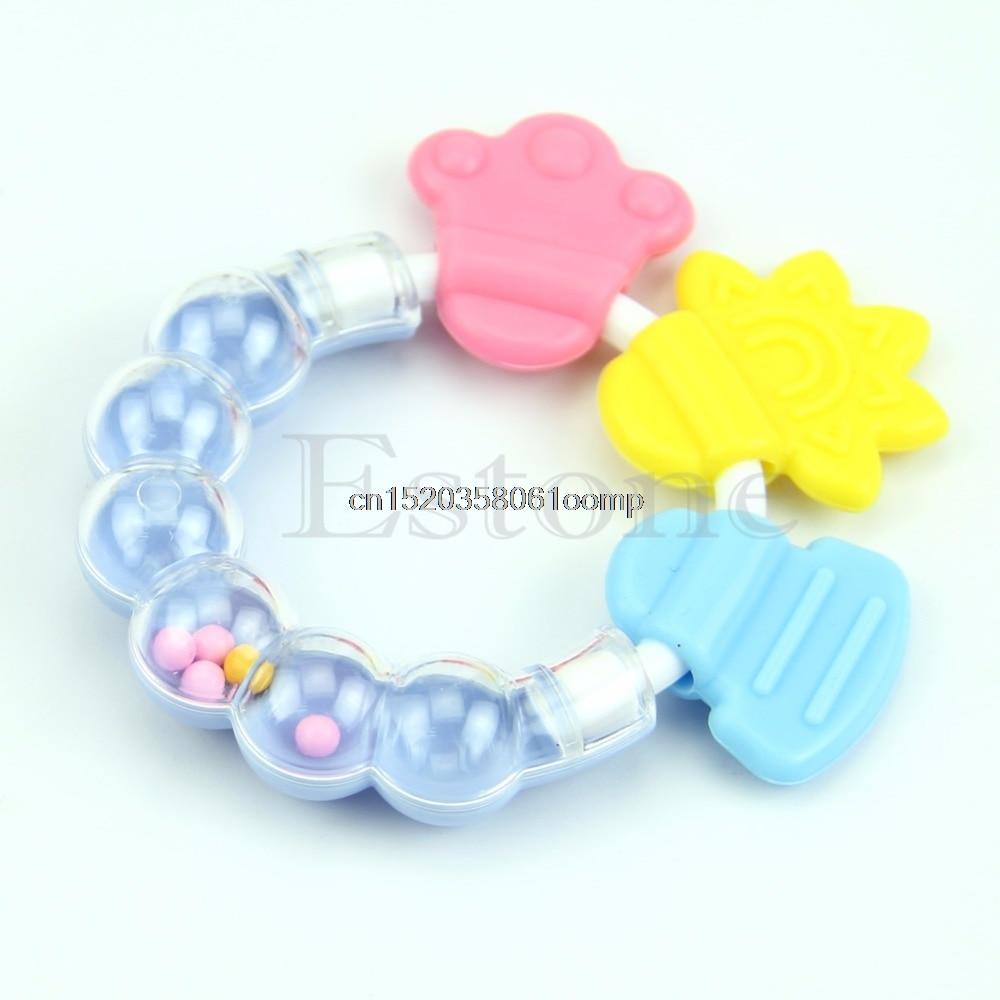 Molar-Rod Baby Kid Handbell Chew-Toy Drop-Ship Jingle-Design Toddler Silicone -K4ue