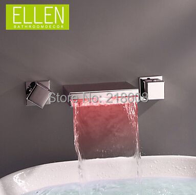 Bathroom Faucet Light aliexpress : buy wall mounted bathroom faucet waterfall led