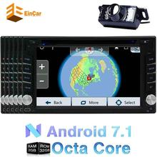 Android 7.1 car stereo 2DIN capacitive touch screen DVD player GPS navigation FM radio support Bluetooth/WIFI/OBD2 Backup Camera