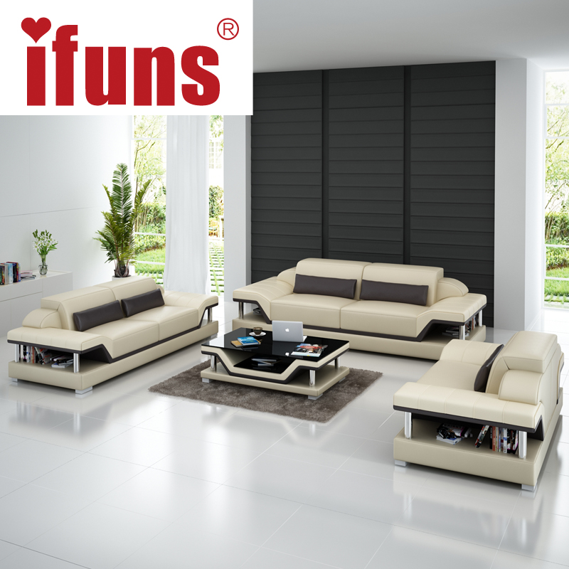 Ifuns Modern Sectional Sofa Genuine Italian Leather U Shaped Luxury Sets Living Room Furniture 1 2 3 Large House Fr In Sofas From