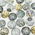 Sweet Bell  wholesale 20 pcs mix Steampunk gear Pattern Round Glass Cabochon 20mm 25mm Dome Flat Back  DIY Jewery Finding KB1301