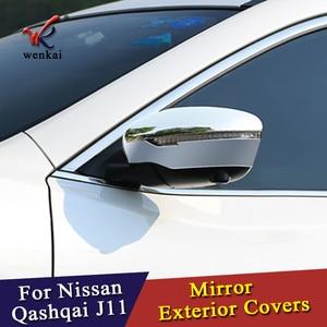 Image 4 - WK для Nissan Qashqai J11 Rogue X Trail T32 2014 2015 2016 2017 автомобильный хромированный Стайлинг Зеркало заднего вида аксессуары