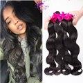 9a barato Malaysian Virgin Hair Body Wave 4 Bundles Malasia Onda del cuerpo de la Trama Del Pelo 100% Extensiones de Cabello Humano Rosa Pelo productos