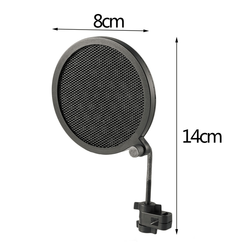 Image 3 - PS 2 Double Layer Studio Microphone Mic Wind Screen Pop Filter/ Swivel Mount / Mask Shied For Speaking Recording stand-in Mic Stand from Consumer Electronics