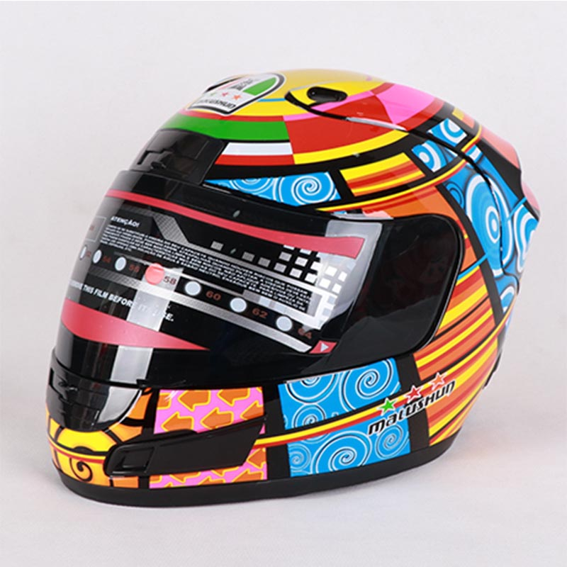 MALUSHUN Rossi element motorcycle helmet New Genuine cascos moto para hombre fall winter warm full face helmets 2017 winter new yohe cross country full face motorcycle helmet yh993 abs motorbike helmets with scarf warm size m l xl xxl