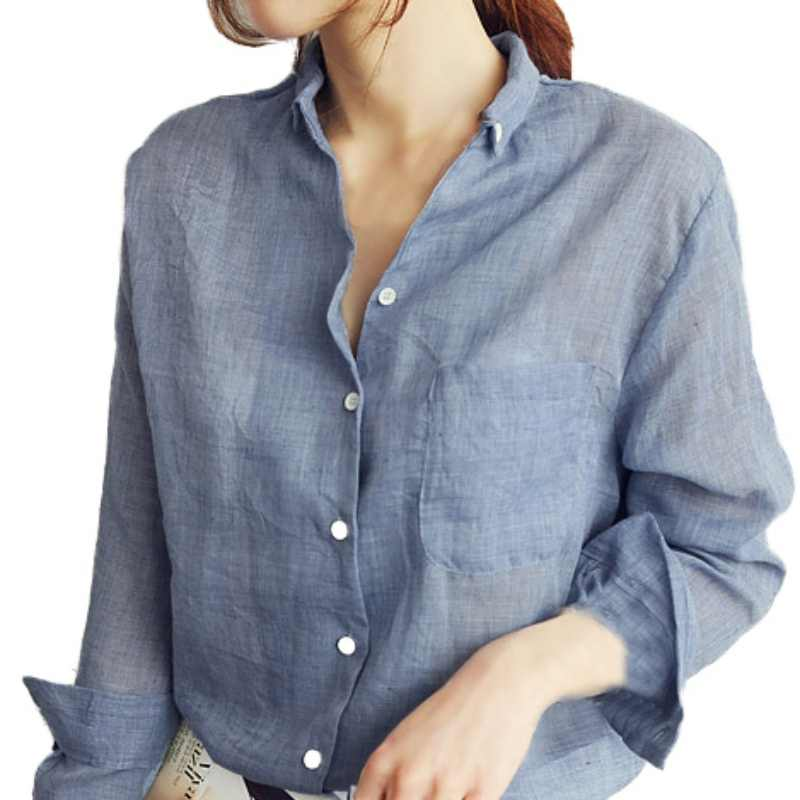edd037d9f3f91e New Women Thin Long Sleeve Shirt Women Tops Summer Ladies Blouses White Blouse  Womens Clothing Office