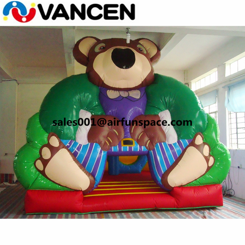 Attractive inflatable bouncer jumping castle 5*5m bear model jumping bouncing castle cheap inflatable animal bouncer for kids free shiping jumping bouncer house inflatable bouncer castle kids bouncy castle bouncer inflatable for kids