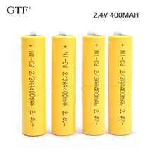 4pcs 2.4V 400mah  2/3AA  Ni-CD Battery Nickel-cadmium rechargeable battery AA battery For RC Toy shaver LED light powerbank laptop battery 39r6519 2 5v 400mah 24 4wh for ibm 39r6519 39r6520 42c2193 ds3000 system memory cache battery