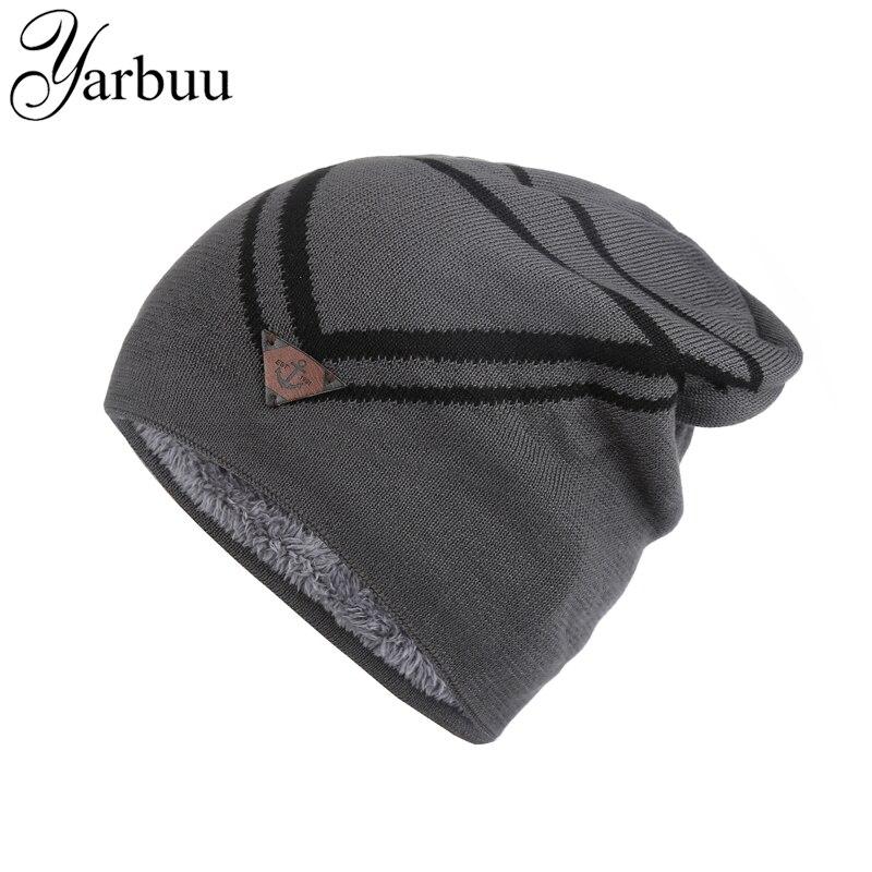[YARBUU] Pletená čepice 2016 zimní čepice pro muže lodní kotva Čepice hlavy Mrazící chladná zimní teplá čepice nová móda vysoká kvalita