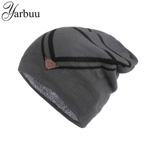 YARBUU Knitted hat 2016 winter hat for men ship's anchor Head cap Freezing cold winter warm caps new fashion high quality