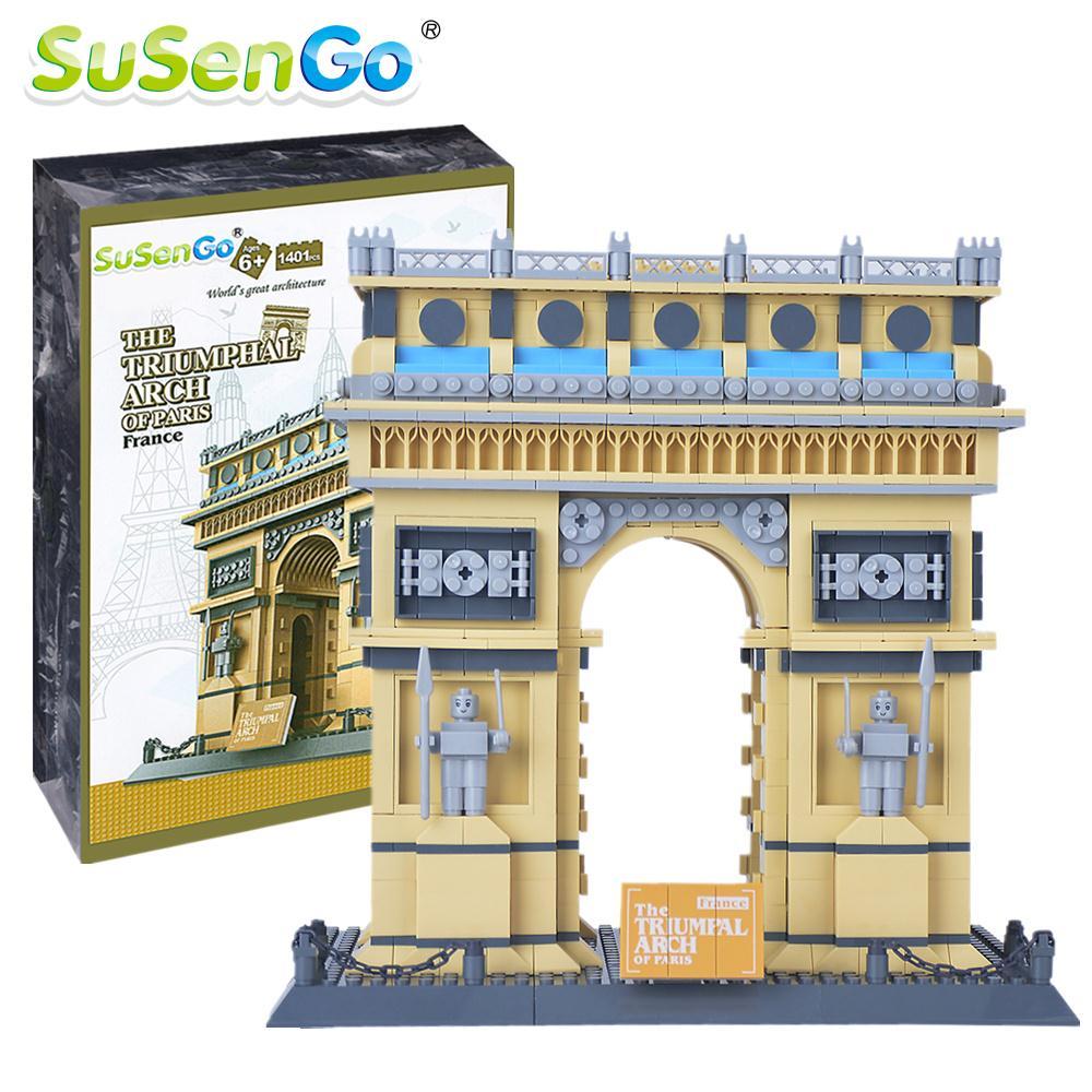 SuSenGo Building Blocks Triumphal Arch Bricks World Famous s