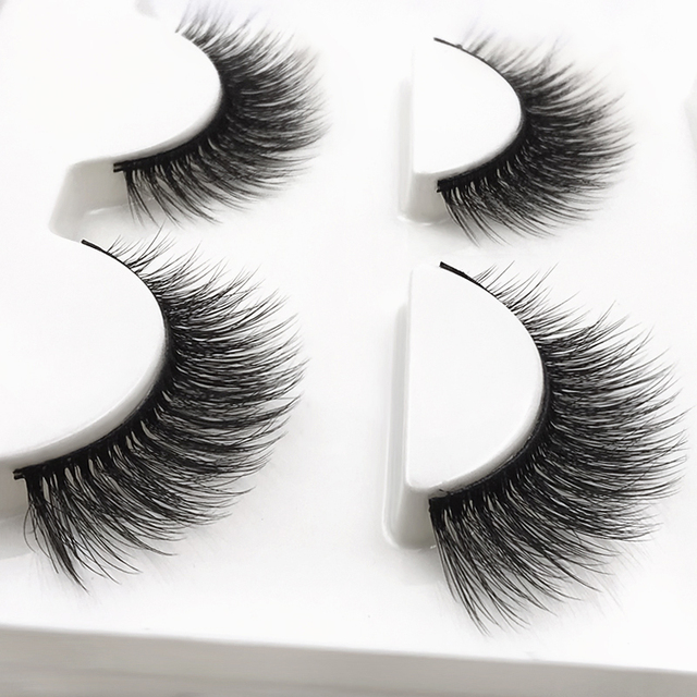3 pairs 20 styles 3D Faux Mink Hair Soft False Eyelashes Fluffy Wispy Thick Lashes Handmade Soft Eye Makeup Extension Tools 2