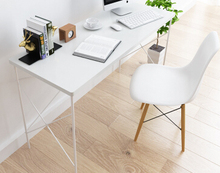Modern steel wood desk length 120 simple table laptop L corner study