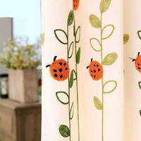 Fine Childhood Memories Cute Ladybug Cartoon Embroidery Curtains Can Be Used For Children S Bedroom Bedroom