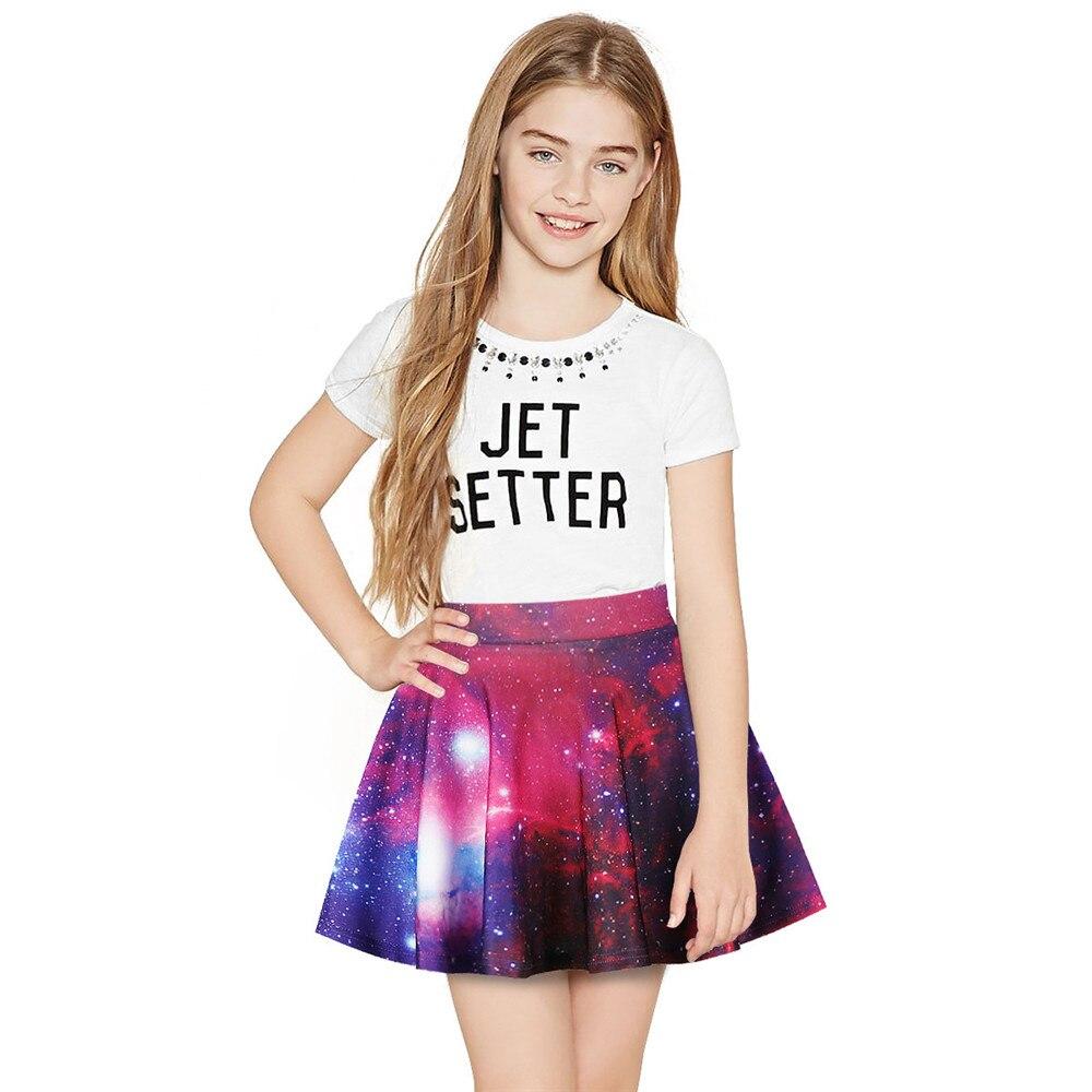 4c4fedb9d 8-13 T verano tutú niñas faldas 3D estampado Niño Jupe niños ropa Etek bebé  falda niña Saia ...