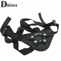 Diklove Strap On Dildo Adjustable Penis Strapon Corset Style Harness Detachable Stainless Steel Ring Lesbian Sex