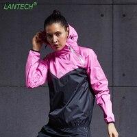 LANTECH Women Hot Sweat Jacket Running Jacket Sports Yoga Sportswear Fitness Run Exercise Gym Jacket Clothes Long Sleeve Tops