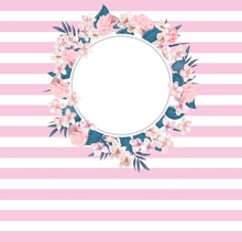 Laeacco Pink White Stripes Flowers Ring Baby Newborn Photography Backgrounds Customized Photographic Backdrops For Photo Studio