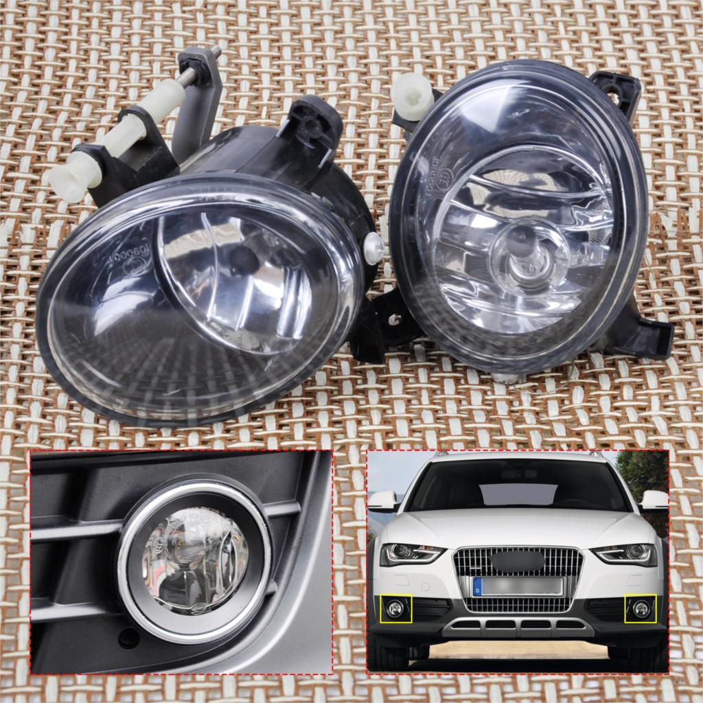 Tracking# New Pair Front Right+Left Fog Light Lamp for Audi A4 A6 A5 A6 Q5 2010 2011 2012 2013 2014 2015 8T0941699B 8T0941700B for vw golf 6 gti 2009 2010 2011 jetta 6 gli 2011 2012 2013 2014 new front right halogen new fog lamp fog light car styling