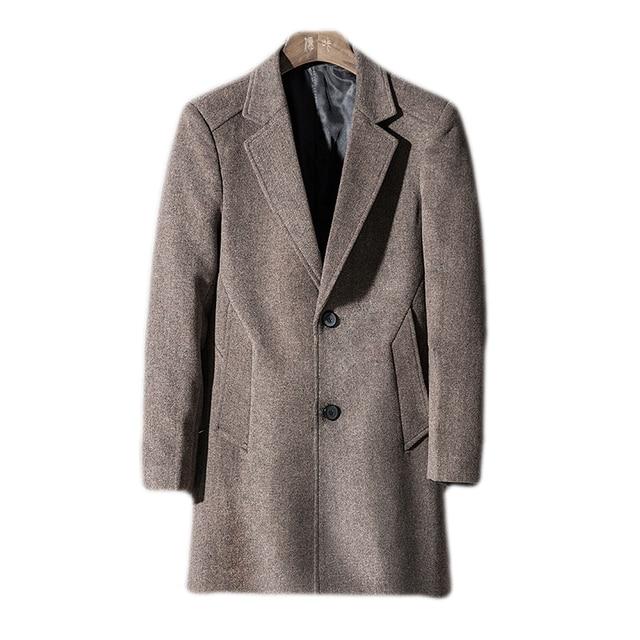 30Laine De Hommes 2018 Mode Manteau Tranchée Longue Nouvelle dCtshQr
