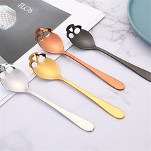 TTLIFE Skull Shape Silver Tea Spoon Stainless Steel Coffee Spoons Dessert Ice Cream Sweets Teaspoon News 2019  Kitchen Tableware