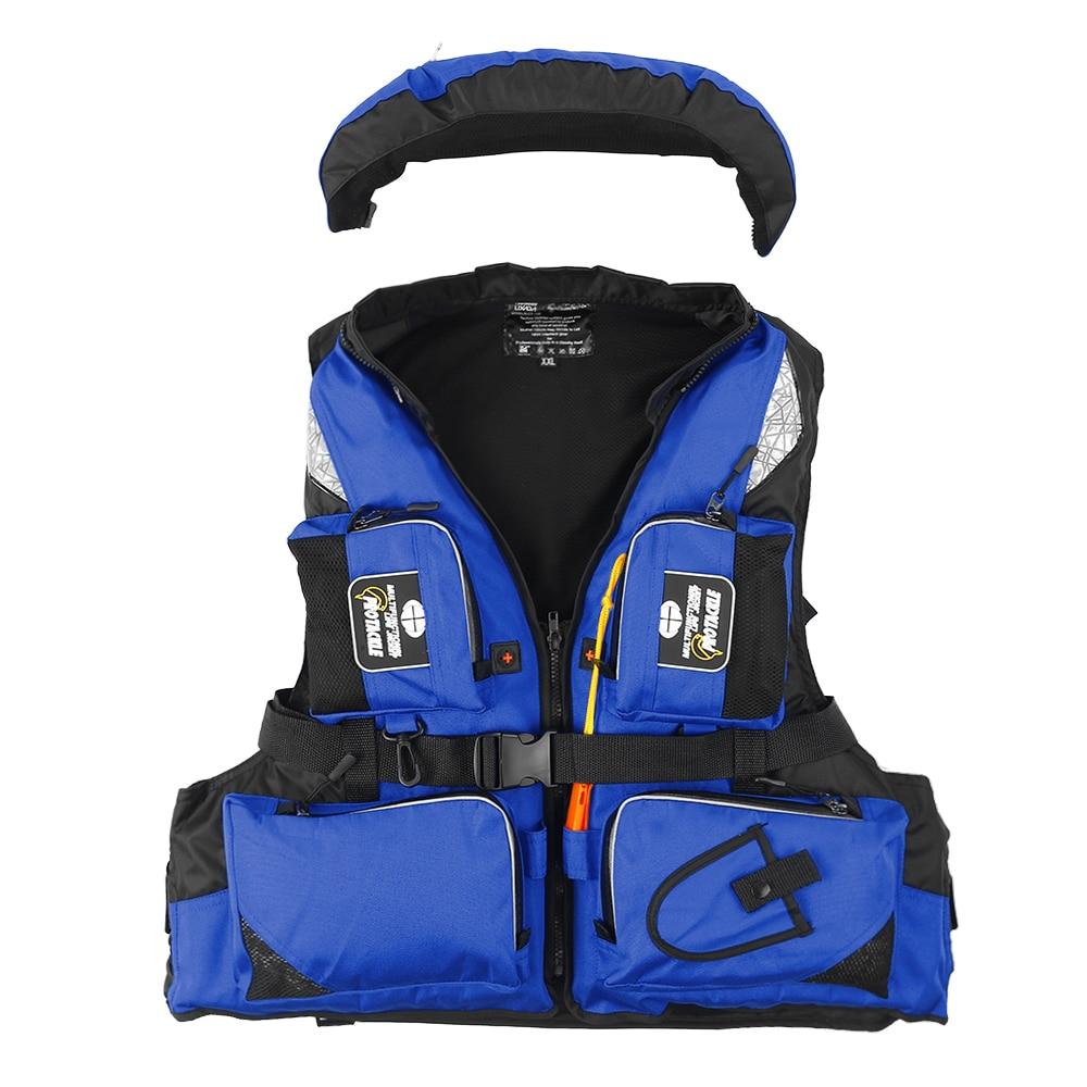 Lixada Professional Adult Fishing Safety Life Jacket Survival Vest Swimming Boating Drifting Water Sports